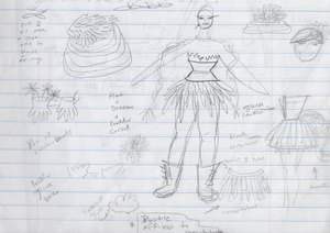 fritzy's costume drawings